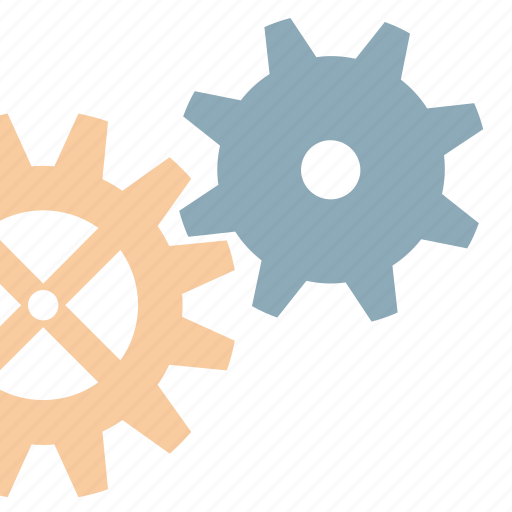 gears, industry, tool, works icon