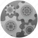 engine, gear, machine, settings icon
