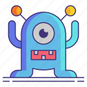 alien, geek, toy icon