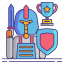 competition, cosplay, geek, knight icon