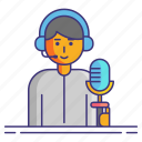 acting, actor, voice icon