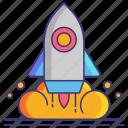 launch, rocket, spaceship