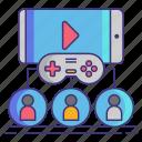 club, gaming, video icon