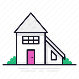 building, narrow home, townhome, townhouse icon