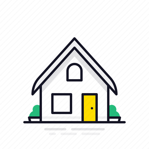 building, home, house, minimalist, small home icon