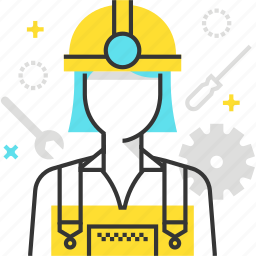 construction, female, woman, worker icon