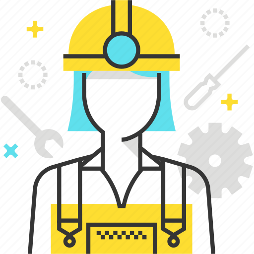 Construction, female, woman, worker icon - Download on Iconfinder