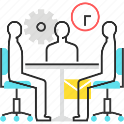 employee, male, man, meeting, office icon