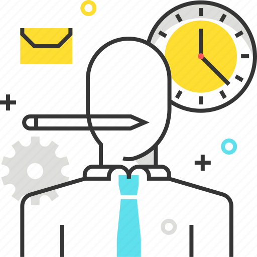 clock, male, man, office, time, work hours icon