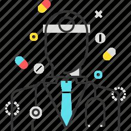 control, doctor, health, hospital, male, man icon
