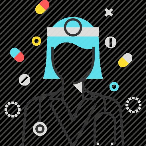 control, doctor, female, health, hospital, woman icon