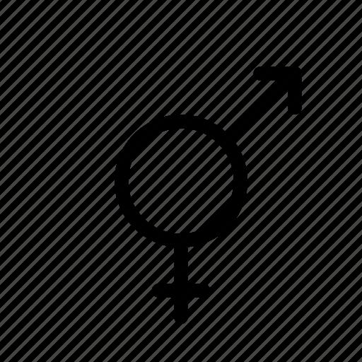 bigender, gender, sex icon