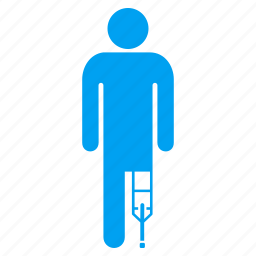 human healthcare, illness boy, injured patient, invalid guy, male person, sick man, therapy icon