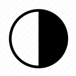 day, half, light, moon, night icon