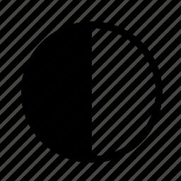day, half, moon, sun icon