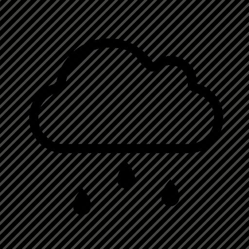 cloud, cloudy, rain, snow icon