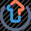 arrow, cloud, database, navigation, server, up, upload