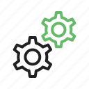cog, gear, power, technology, web, wheel, work icon