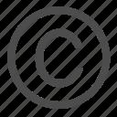 circle, copyright, right, trademark icon