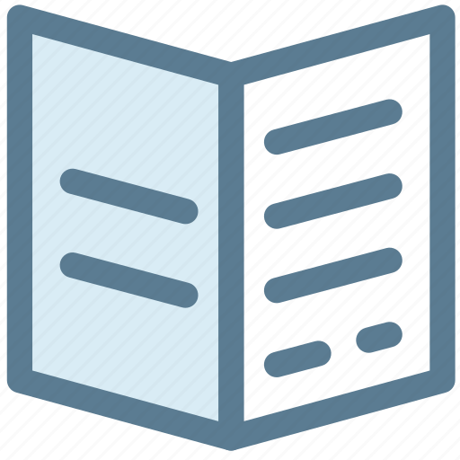 brochure, document, menu, note, office, page, papers icon