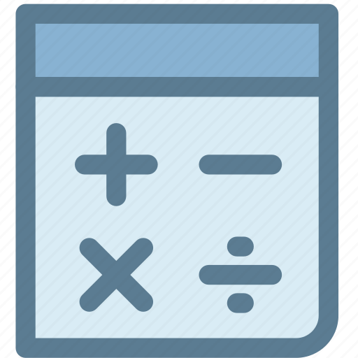 accounting, calculate, calculation, calculator, general, math, office icon