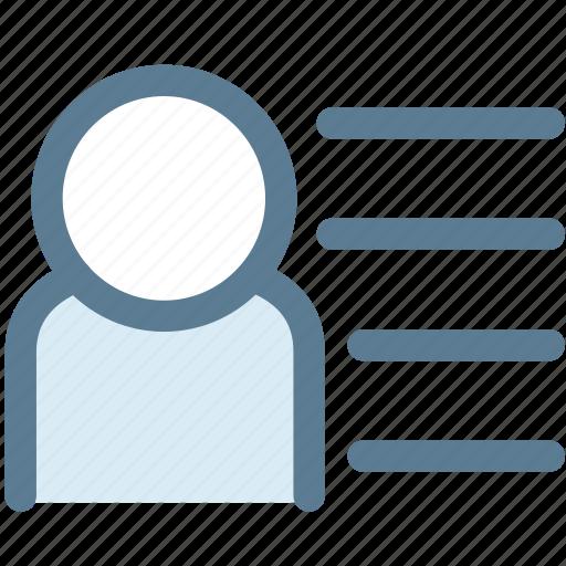 align, employee, general, human, human list, list, member icon