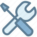 office, repair, repair tool, screwdriver, service, tools, wrench icon icon