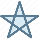 general, office, rising star, shooting star, star, starred, thin icon