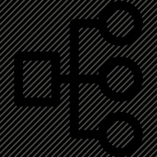 diagram, hierarchy, network, sitemap, sitemap navigation icon