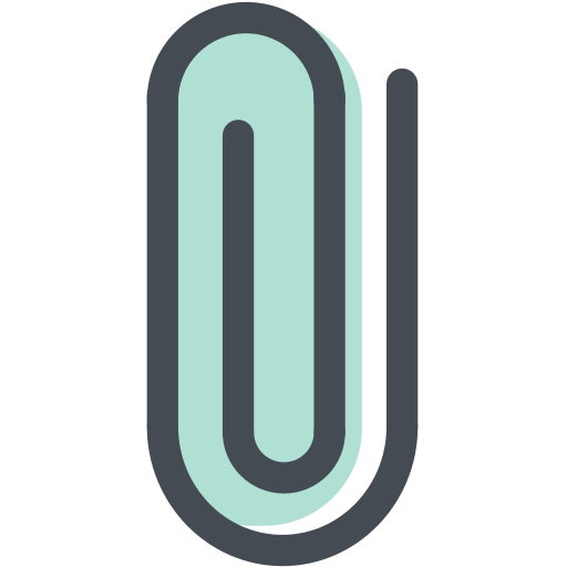 attach, attachment, clip, clipping, general, office, paperclip icon