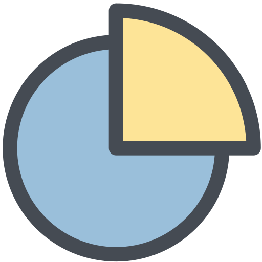 general, graph, office, overview, part, pie chart, portion icon