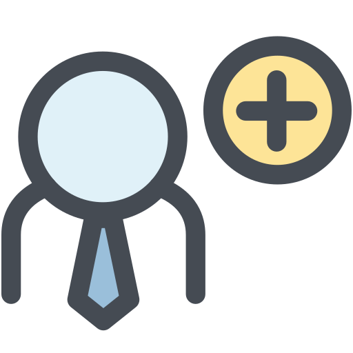 add user, business man, employee, general, human, member, office icon