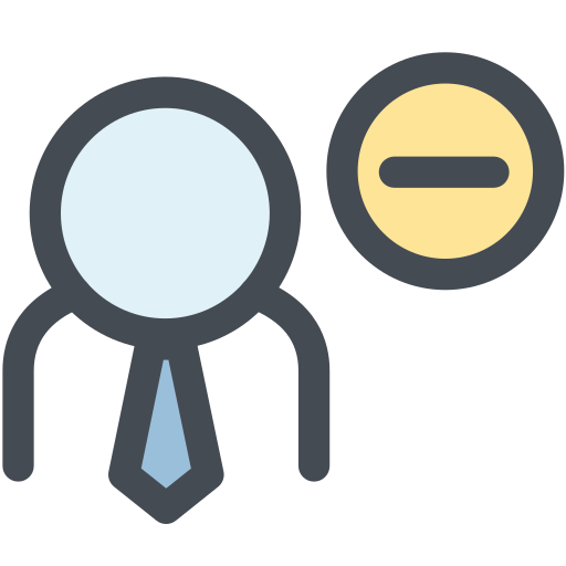 employee, human, member, office, remove, remove user, user icon