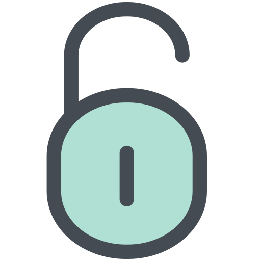 general, office, open padlock, safety, unlock, unlock padlock, unlocking icon