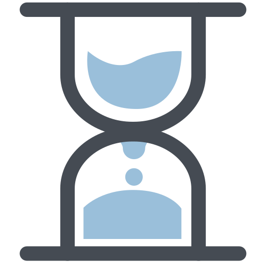 clock, flow, general, hourglass, office, sand, time icon