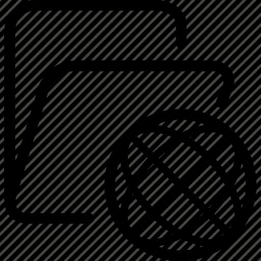 folder, internet icon