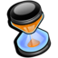 hourglass, time icon