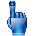finger, hand, point icon