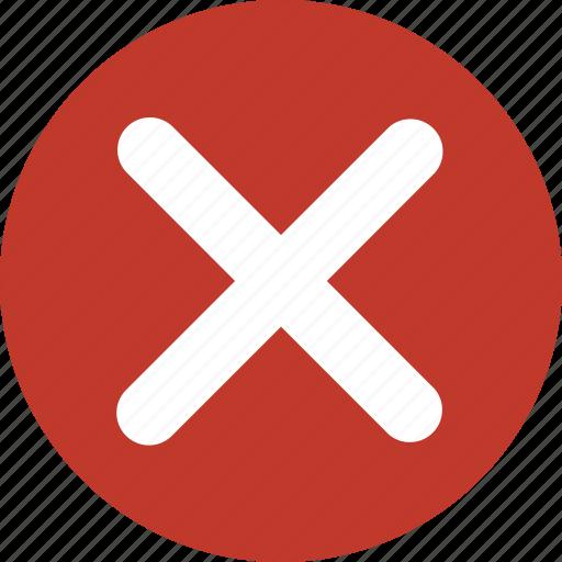 cancel, close, delete, error, multiply, wrong, x icon