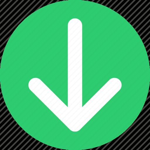 decrease, down, download, downloads, slow, speed icon