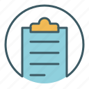 circle, document, file, office, paper, write icon