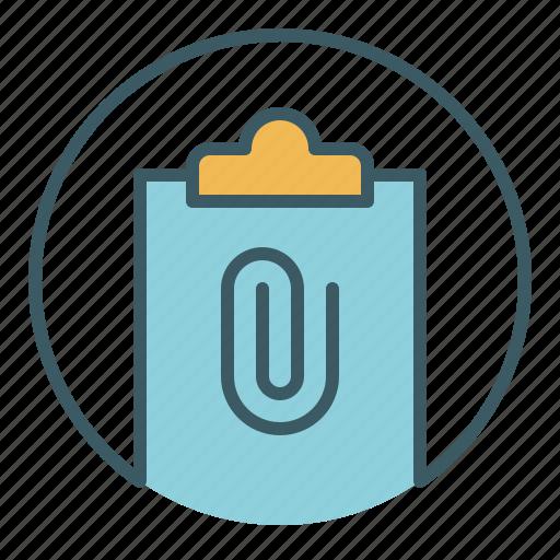 add, attach, attachment, document, file, office, paper icon