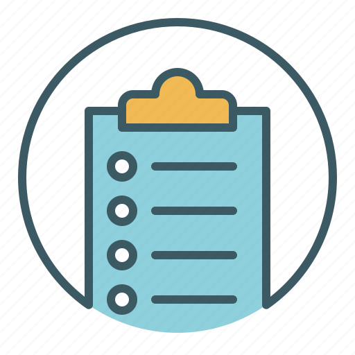 circle, document, file, list, office, paper, write icon