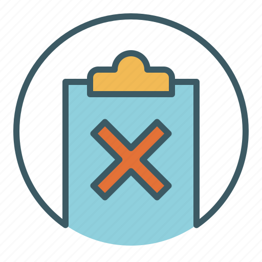 bad, document, file, not ok, paper, write, wrong icon
