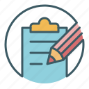 document, edit, file, office, paper, pencil, write icon