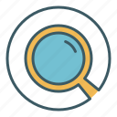 circle, magnify, magnifying glass, search, tool, zoom icon