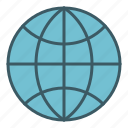 global, globe, map, planet, world icon