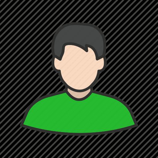 male, man, profile, user icon