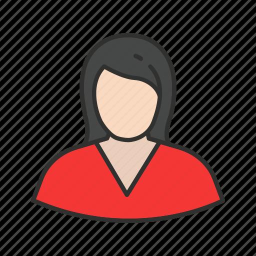 girl, profile, user, woman icon