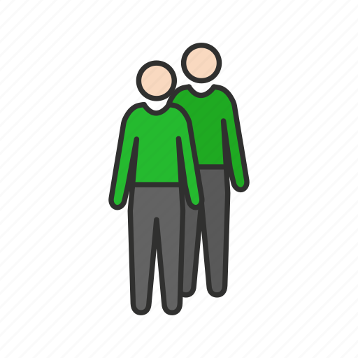 friends, male, partner, users icon